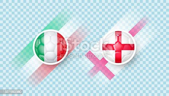 istock Italy vs England match 1327550380