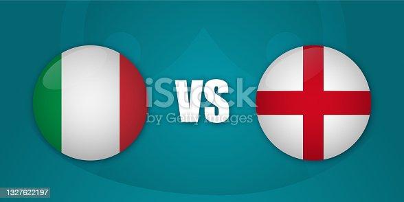 istock Italy vs England match 1327622197