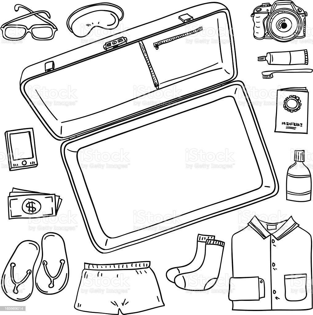 Artículos de equipaje - ilustración de arte vectorial