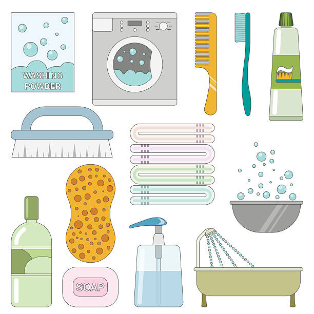 royalty free toiletries clip art vector images illustrations istock. Black Bedroom Furniture Sets. Home Design Ideas