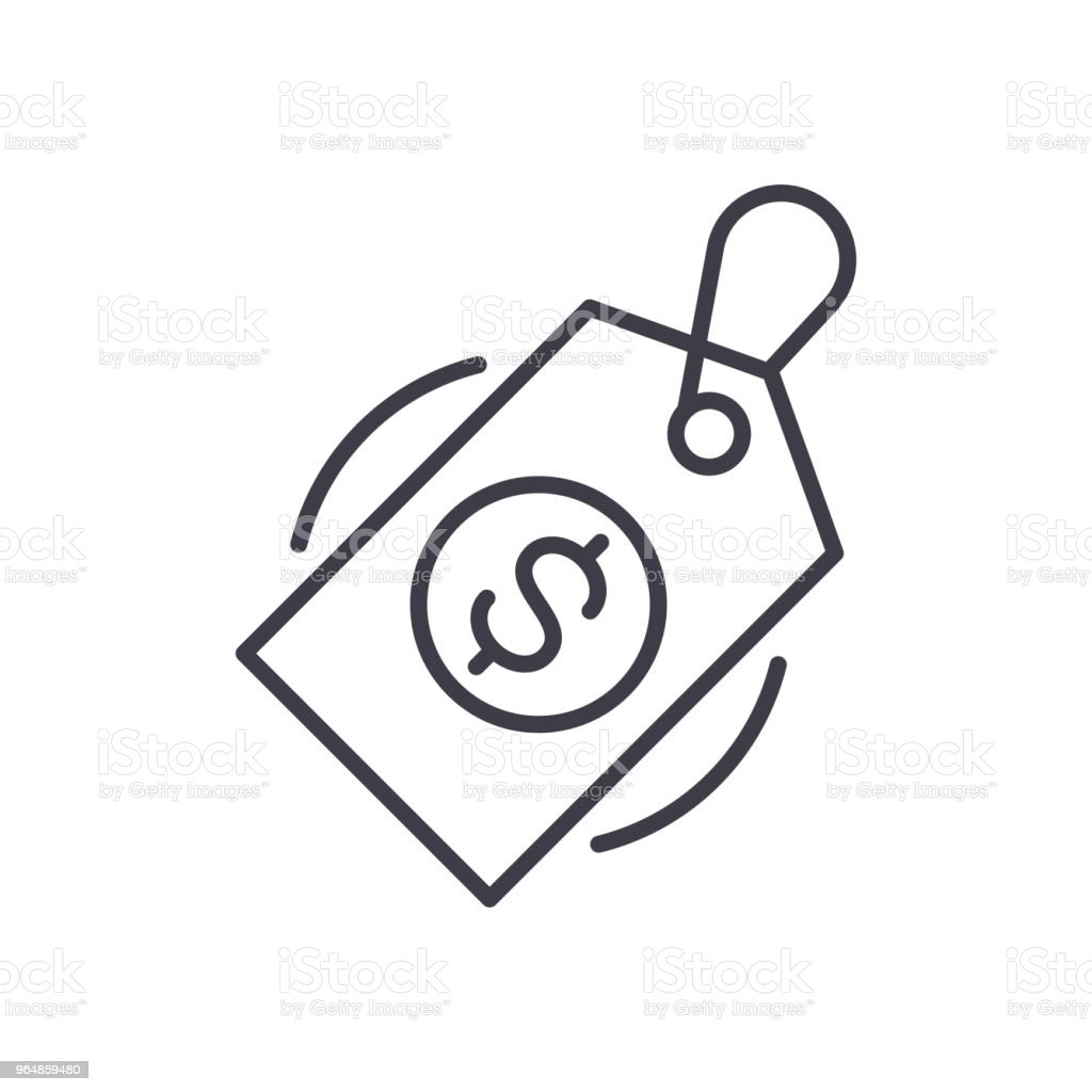Item's price black icon concept. Item's price flat  vector symbol, sign, illustration. royalty-free items price black icon concept items price flat vector symbol sign illustration stock vector art & more images of bag