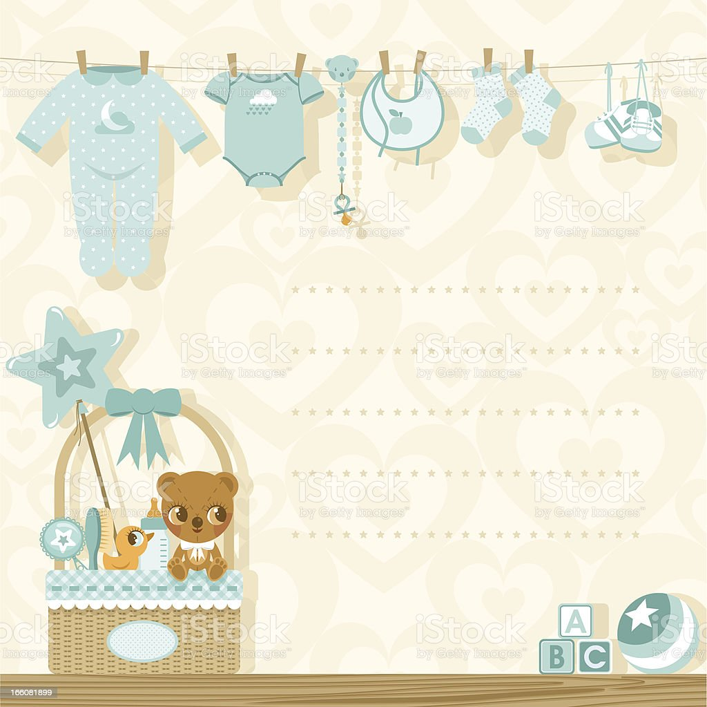 Its A Boy Baby Shower Invitation Stock Vector Art & More Images of ...