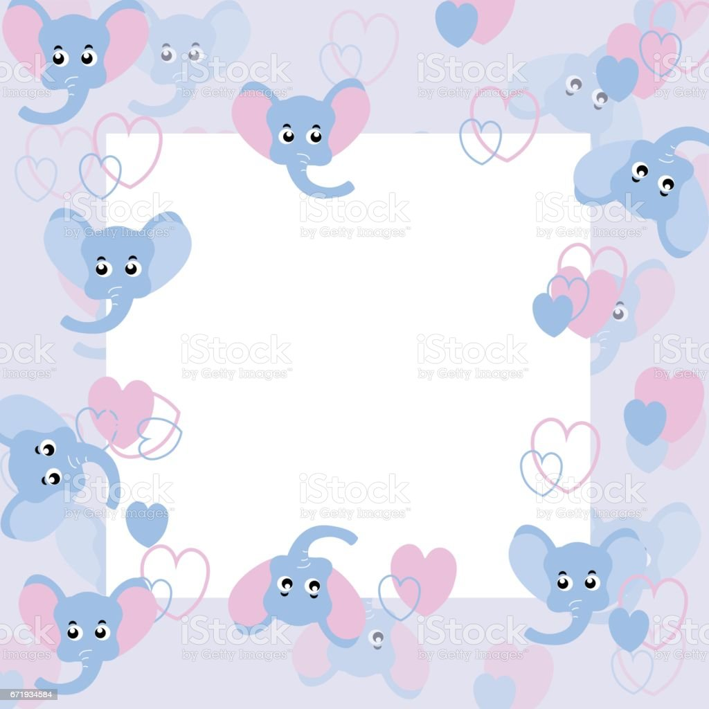Its A Boy Blue Frame Stock Vector Art & More Images of Announcement ...