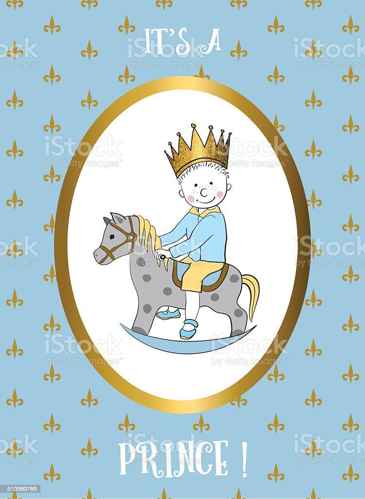 Sagoma Cavallo A Dondolo Disegno.E Un Ragazzo Carta Di Credito Piccolo Principe Equitazione Cavallo