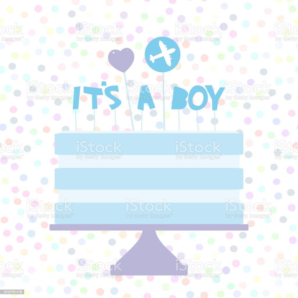 its a boy sweet blue cake blue cream heart plane baby shower banner