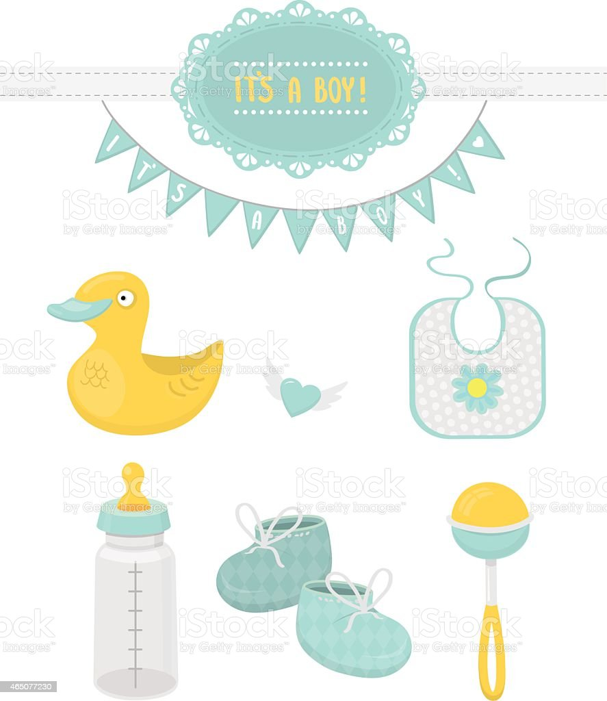 It's a boy! vector art illustration