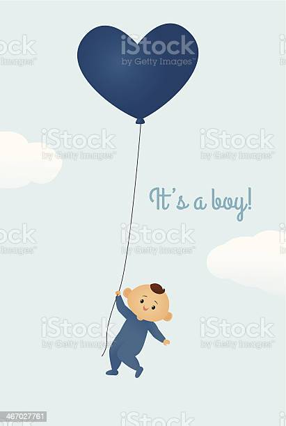 Its A Boy Stockvectorkunst en meer beelden van Aankondigingsbericht