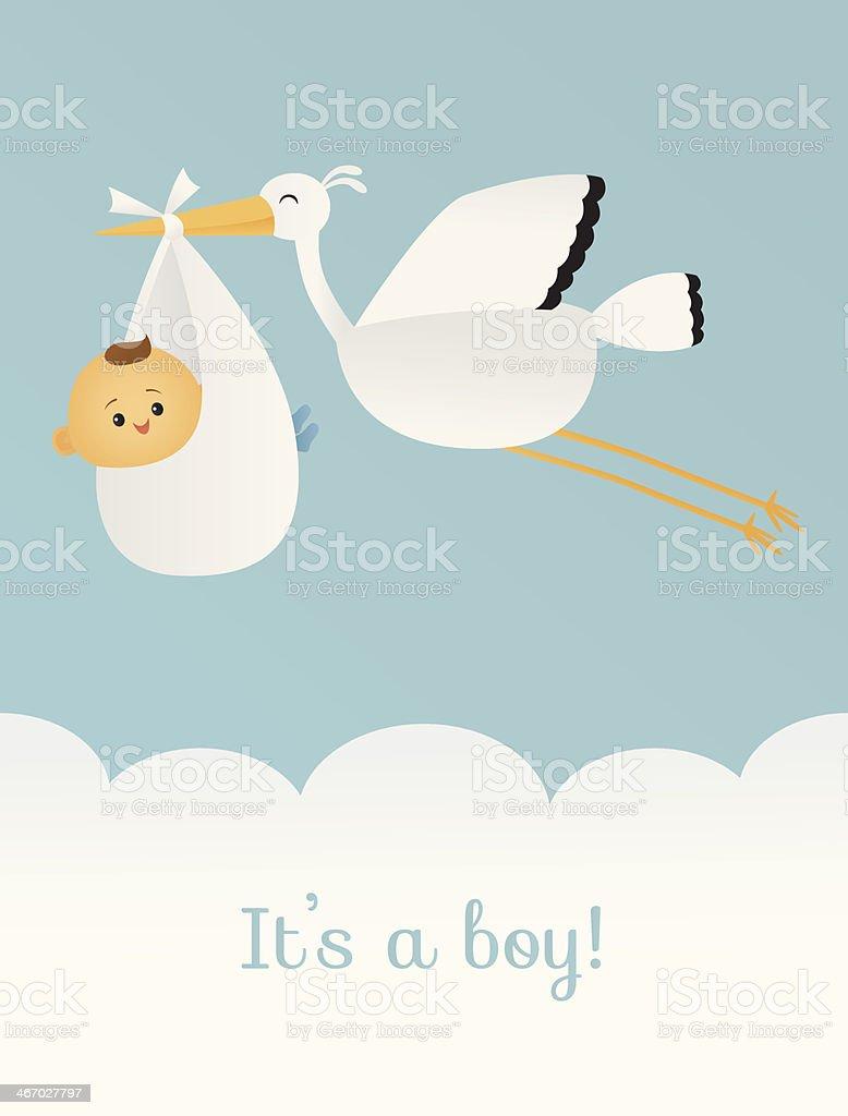 It's a Boy vector art illustration