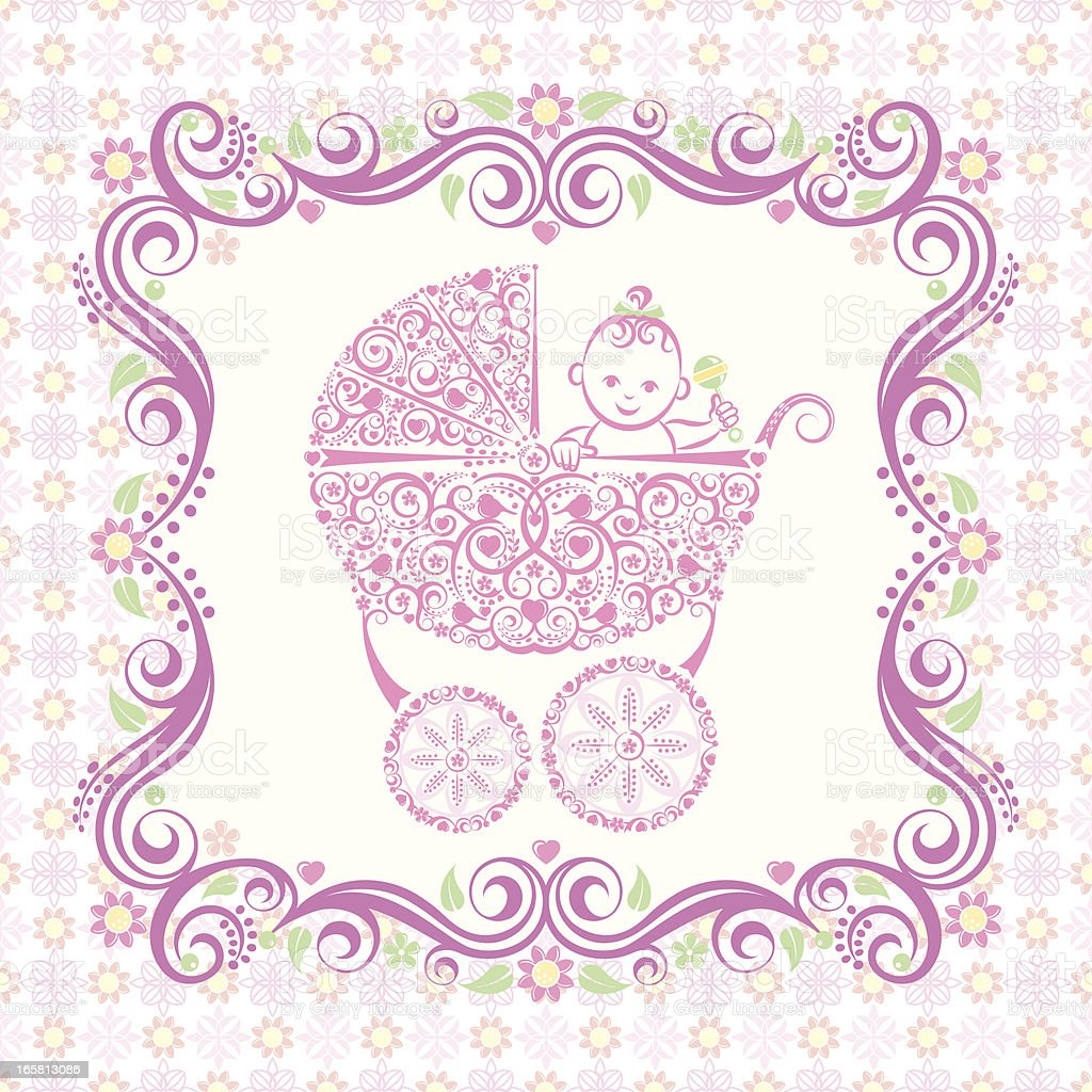 It's a Girl! royalty-free its a girl stock vector art & more images of announcement message