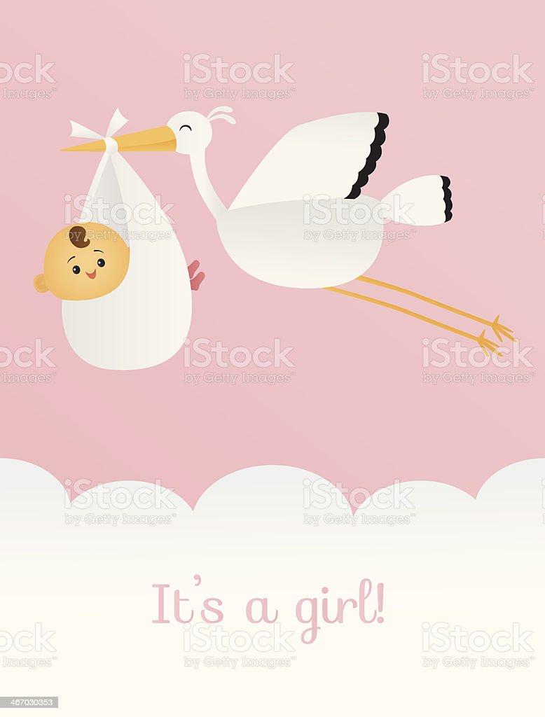 It's a Girl vector art illustration