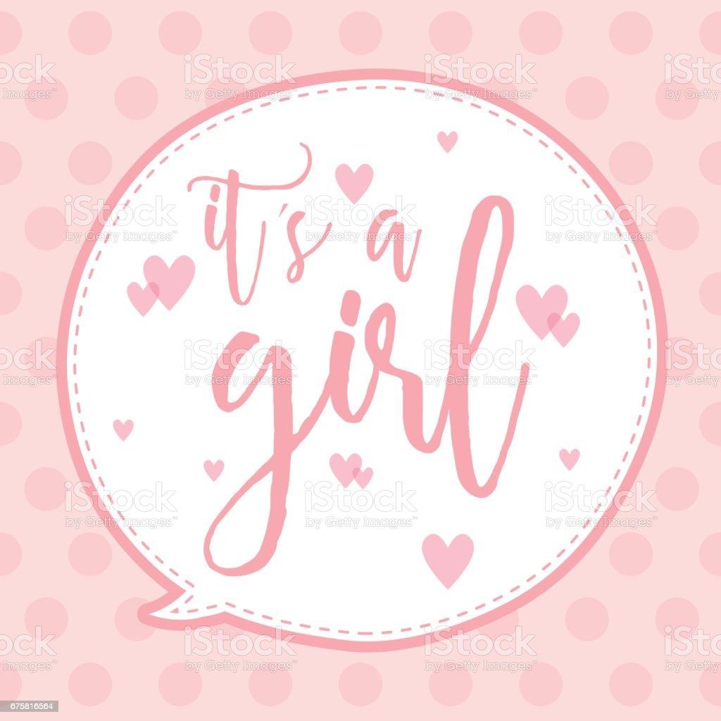 Its A Girl Stock Vektor Art und mehr Bilder von Baby iStock