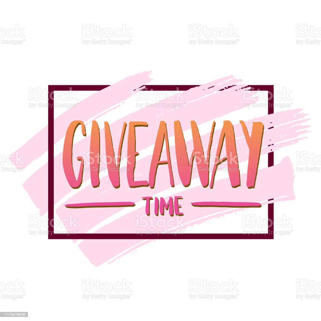 Its Giveaway Time Modern Poster Template Design For Social Media ...