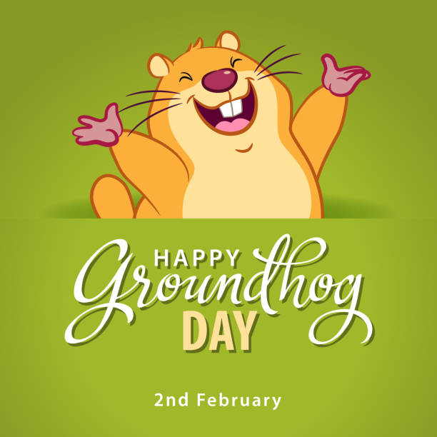 ilustraciones, imágenes clip art, dibujos animados e iconos de stock de es día de la marmota - groundhog day