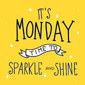 It's monday time for sparkle and shine word lettering