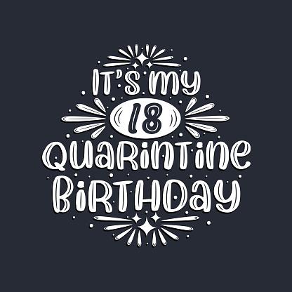 It's my 18 Quarantine birthday, 18 years birthday design.