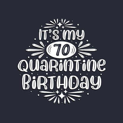 It's my 70 Quarantine birthday, 70 years birthday design.