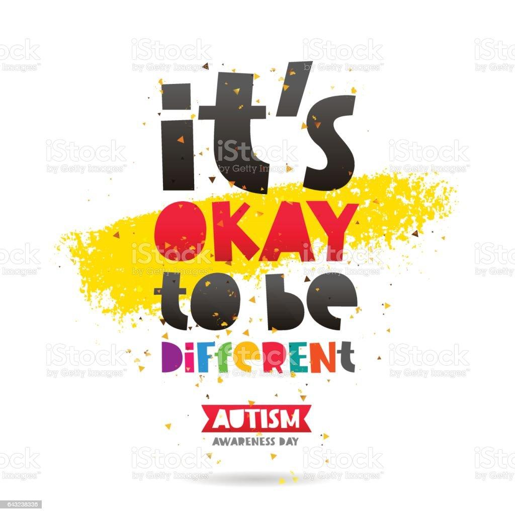 É okey ser diferente - ilustração de arte em vetor