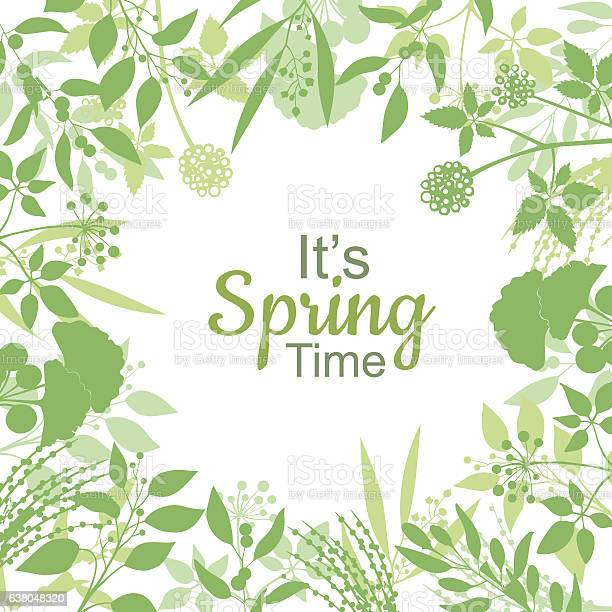 Its spring time green card design text in floral frame vector id638048320?b=1&k=6&m=638048320&s=612x612&h=ekawmusekpmqebrwusfn2mmezpdbzdnfgifbhnk7r78=