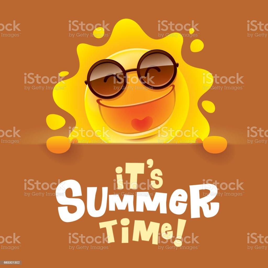Det är sommartid! royaltyfri det är sommartid-vektorgrafik och fler bilder på brun - beskrivande färg