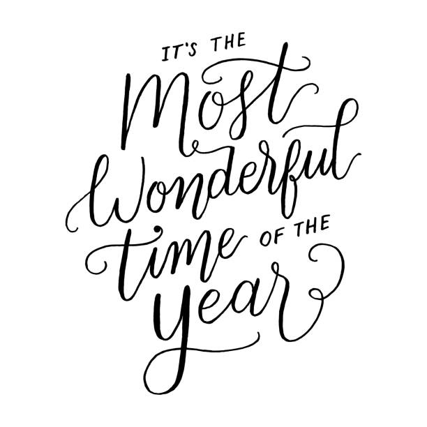 It S The Most Wonderful Time Of The Year Snowy Vector Vector Art Graphics Freevector Com