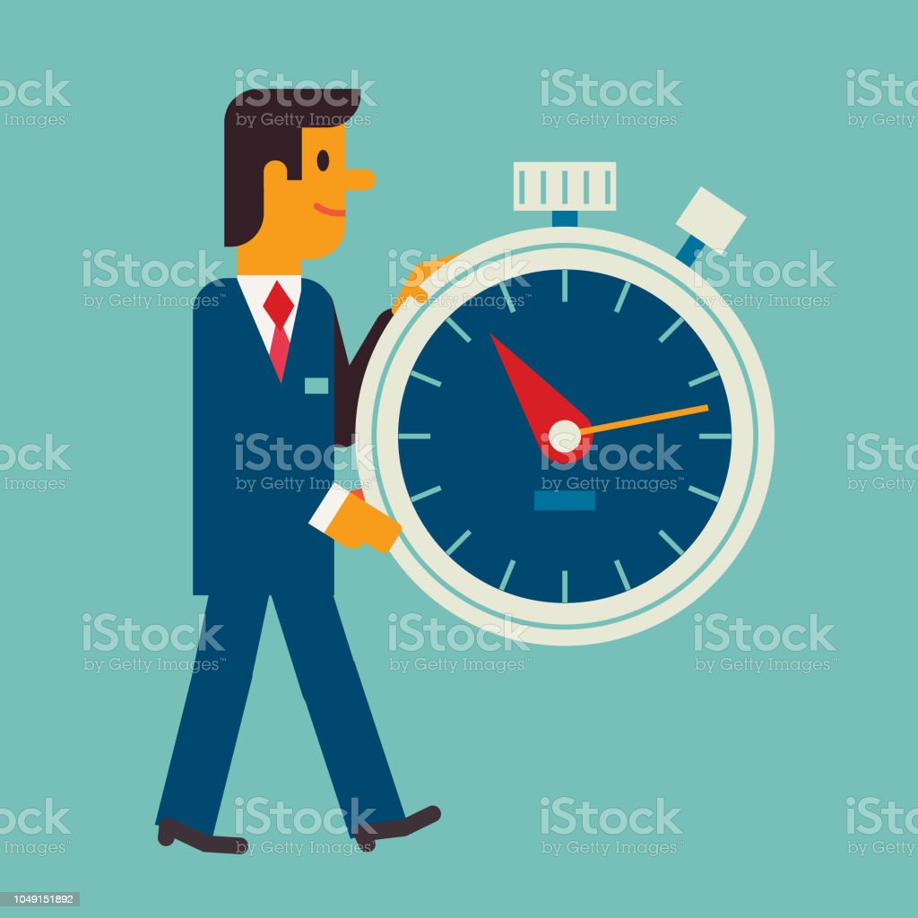 It's time vector art illustration