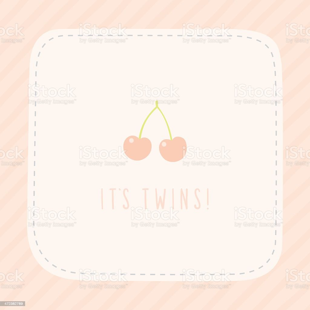 Its Twins Girls Birthday Greeting Card Stock Vector Art More