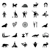 Black Iunit Icon Set