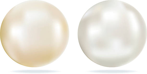 ivory and white pearls with shining looking highlights - pearl jewelry stock illustrations, clip art, cartoons, & icons