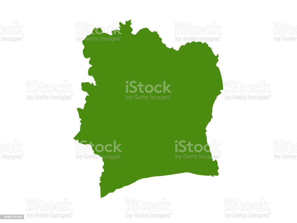 Ivory Coast Map Stock Vector Art More Images of Abidjan 938016486