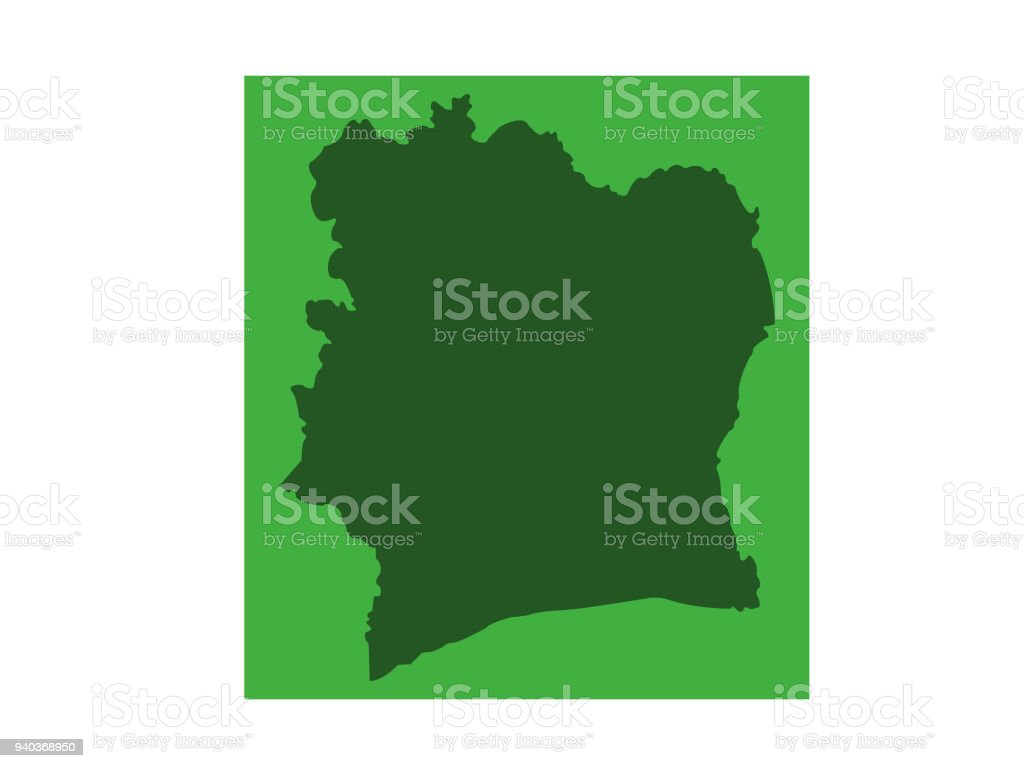 Ivory Coast Map Stock Vector Art More Images Of Abidjan 940368950