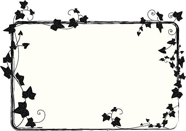 stockillustraties, clipart, cartoons en iconen met ivy frame - klimop