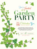 Ivy Garden Party Invitation Template