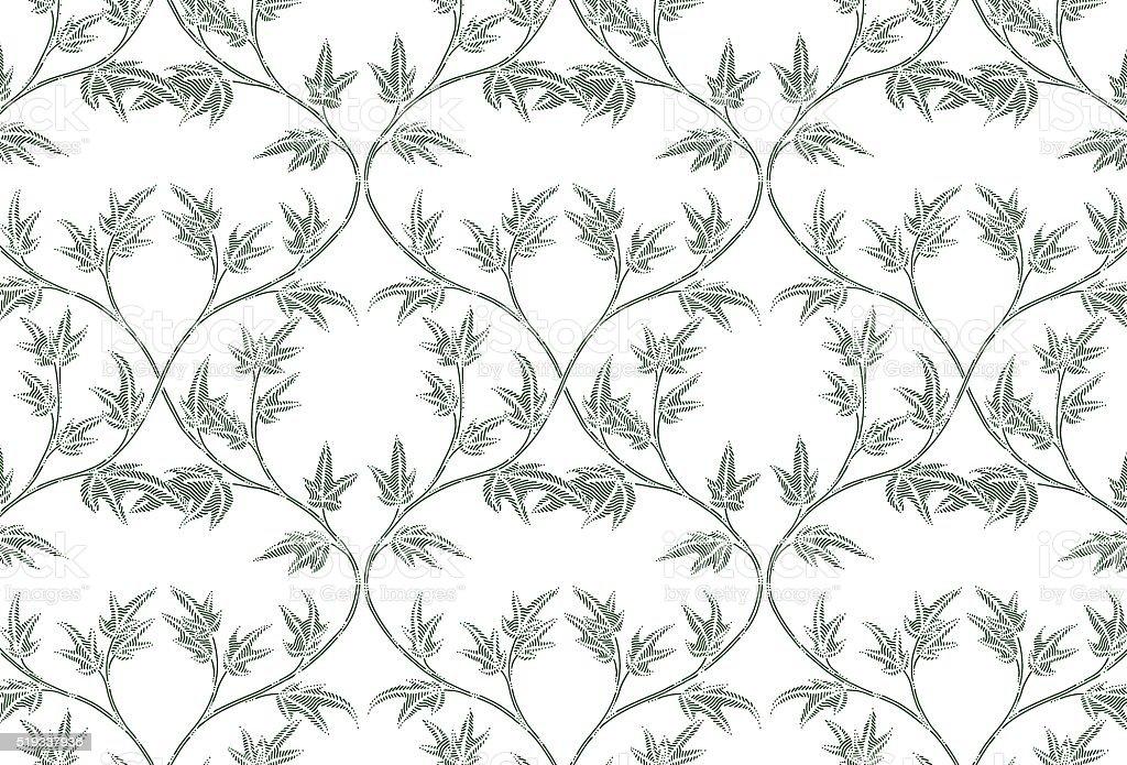 Ivy pattern vector art illustration