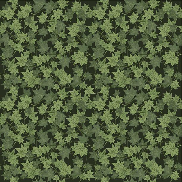 stockillustraties, clipart, cartoons en iconen met ivy seamless vector repeat pattern - klimop