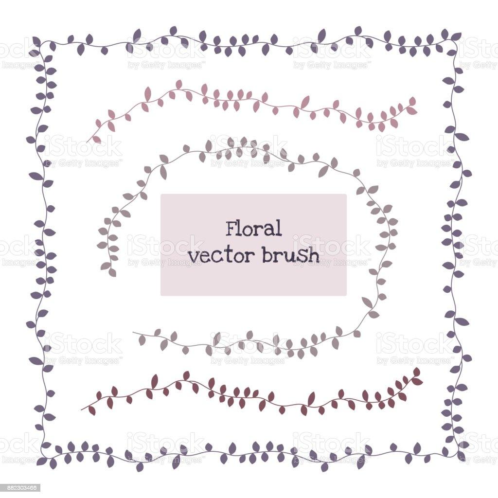 Ivy Vine eleganten floralen Musterpinsel, Vektor – Vektorgrafik