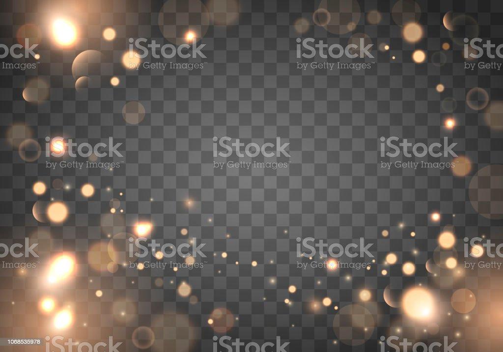 Izolated helle Bokeh-Effekt auf einem transparenten Hintergrund. Verschwommene LightFrame - Lizenzfrei Abstrakt Vektorgrafik