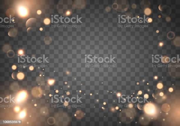 Izolated Helle Bokeheffekt Auf Einem Transparenten Hintergrund Verschwommene Lightframe Stock Vektor Art und mehr Bilder von Abstrakt
