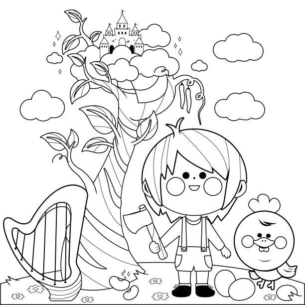 Best Beanstalk Illustrations RoyaltyFree