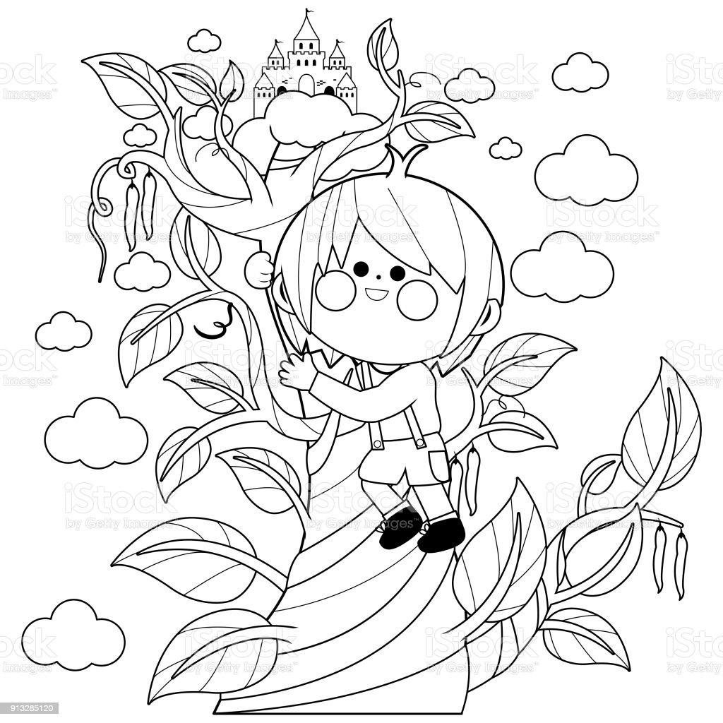 Image [ 11 of 50 ] - Jack And The Beanstalk Coloring Pages Bltidm ...