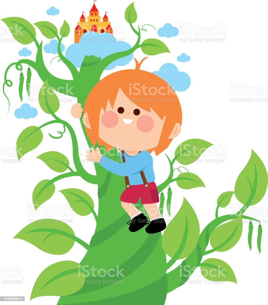 royalty free jack and the beanstalk clip art vector images rh istockphoto com beanstalk clipart black and white beanstalk clipart free