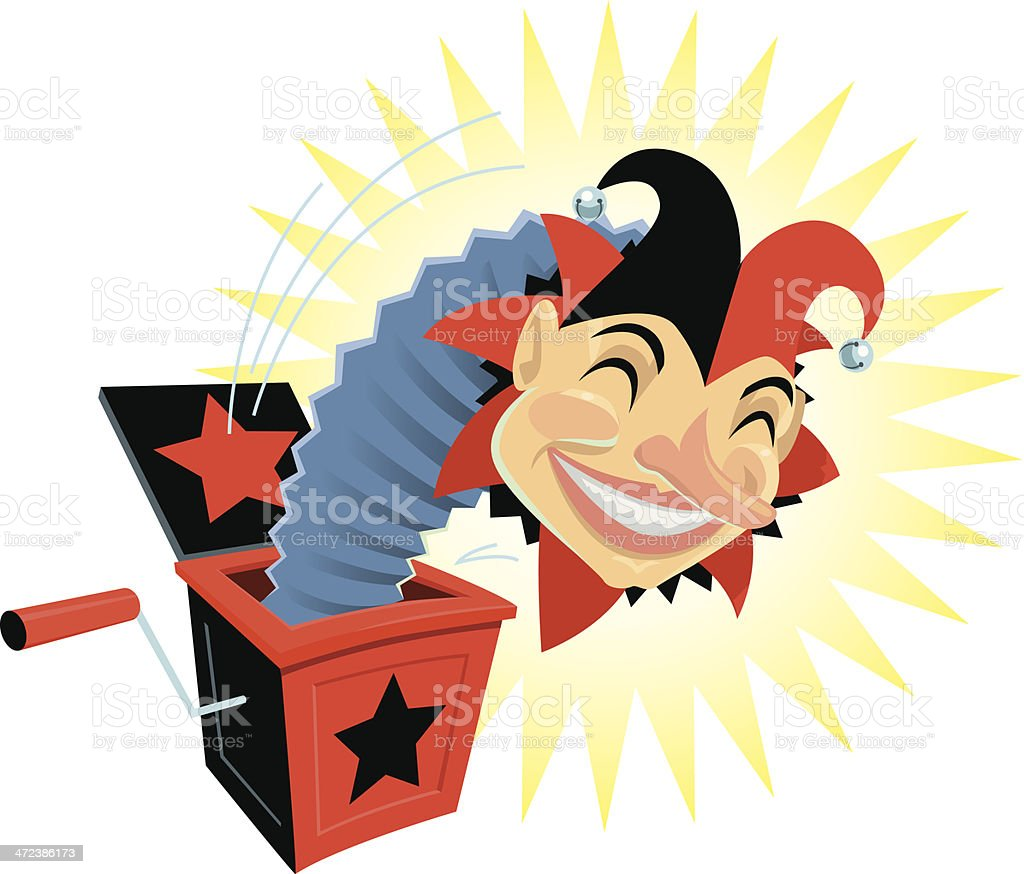 Jack In The Box C vector art illustration