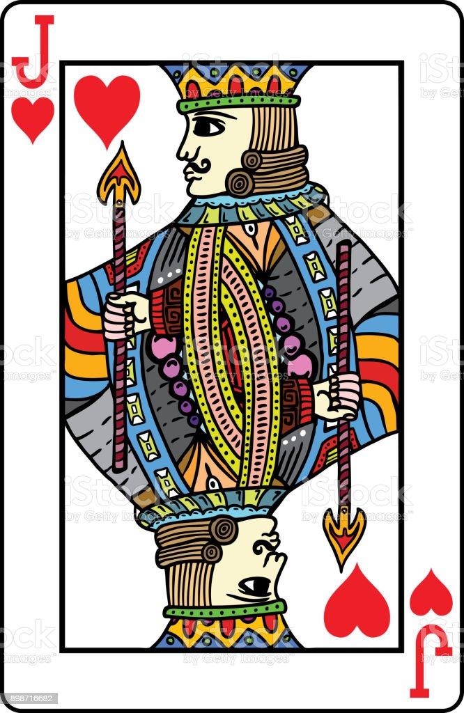 トランプジャックハートのカード アイコンのベクターアート素材や画像