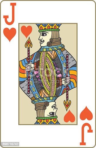 istock Jack of hearts playing card 898716742