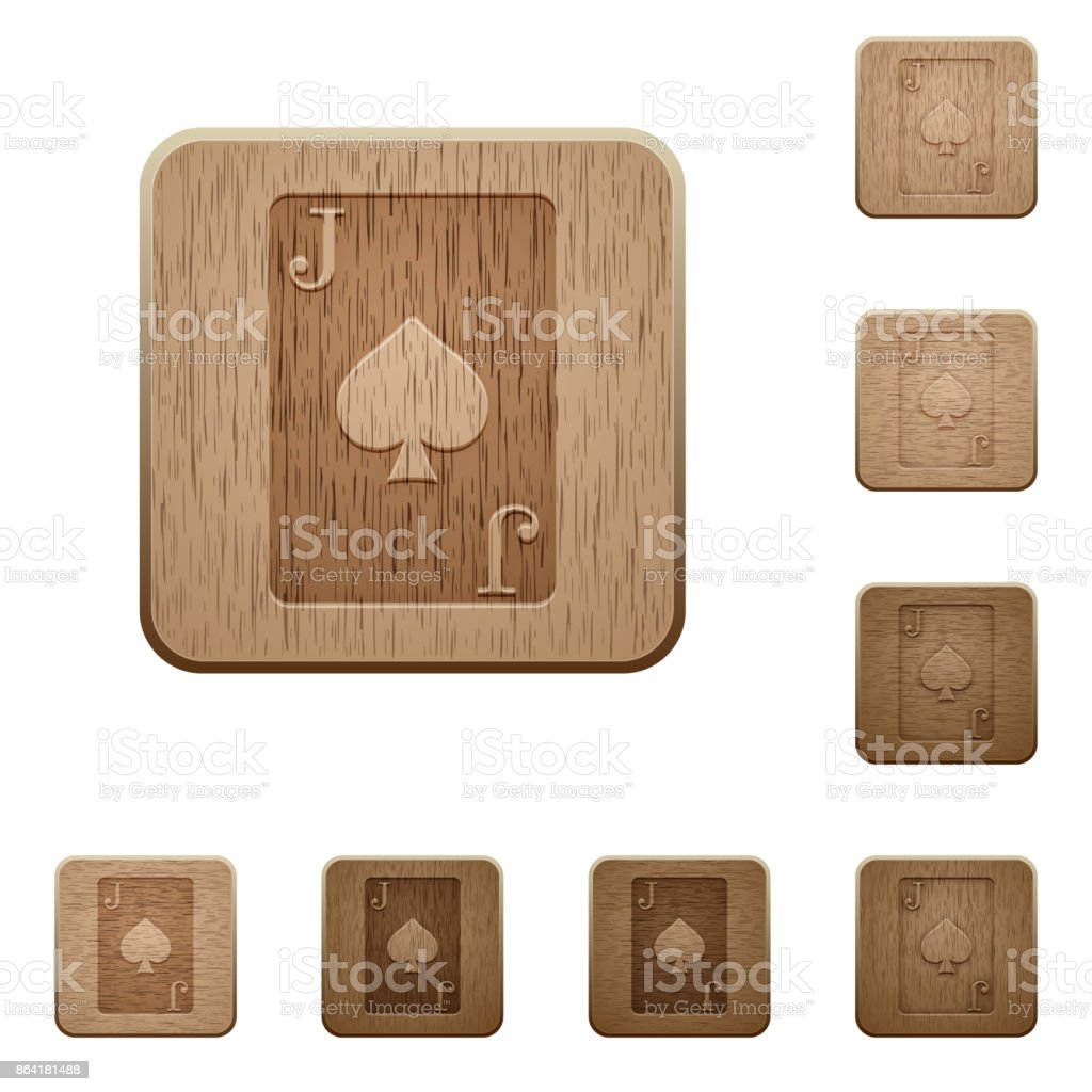 Jack of spades card wooden buttons royalty-free jack of spades card wooden buttons stock vector art & more images of addiction