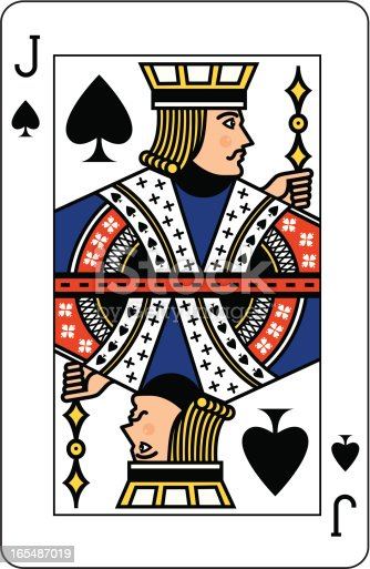 istock Jack of Spades playing card 165487019