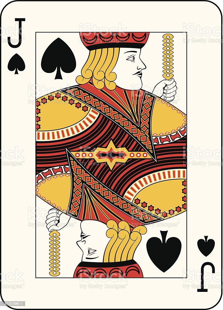 Jack of spades vector art illustration