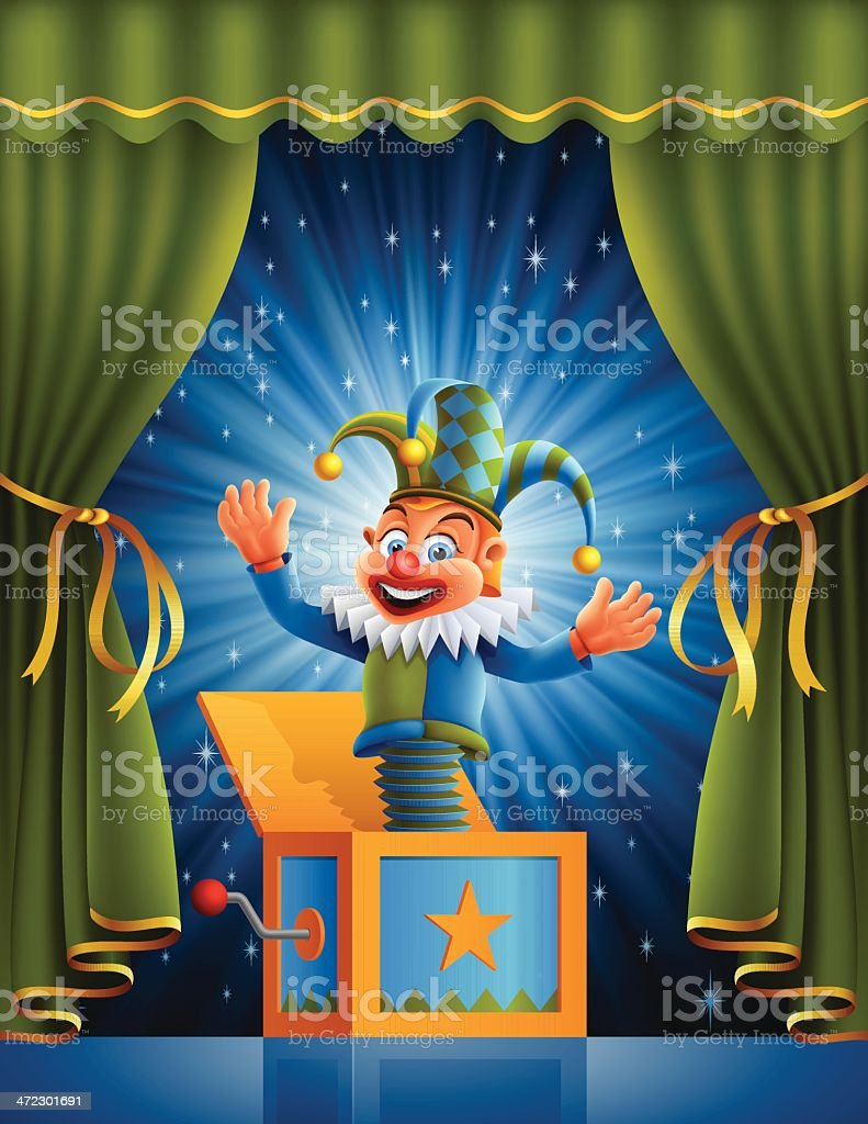Jack on the Stage royalty-free stock vector art