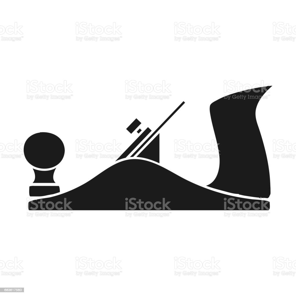 Jack plane icon in black style isolated on white background. Sawmill and timber symbol stock vector illustration. vector art illustration