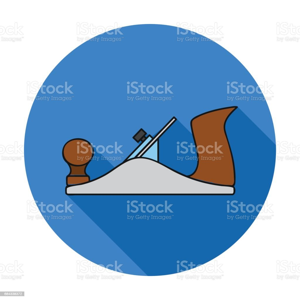 Jack plane icon in flat style isolated on white background. Sawmill and timber symbol stock vector illustration. vector art illustration