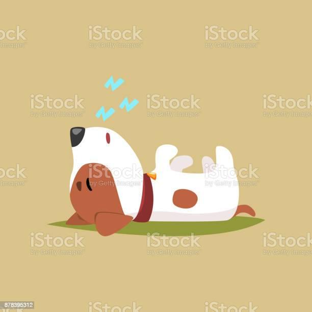 Jack russell puppy character sleeping on its back cute funny terrier vector id878395312?b=1&k=6&m=878395312&s=612x612&h=qcjcgh1u6gwmotcmyagumxgsrkmoezubfeli2paprlu=